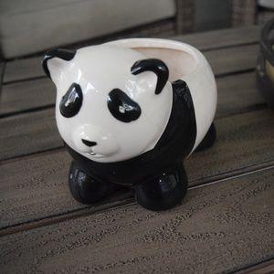 Vintage Ceramic Panda Planter